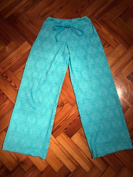 Pantalon Playero Color Turquesa Class Life Talle M