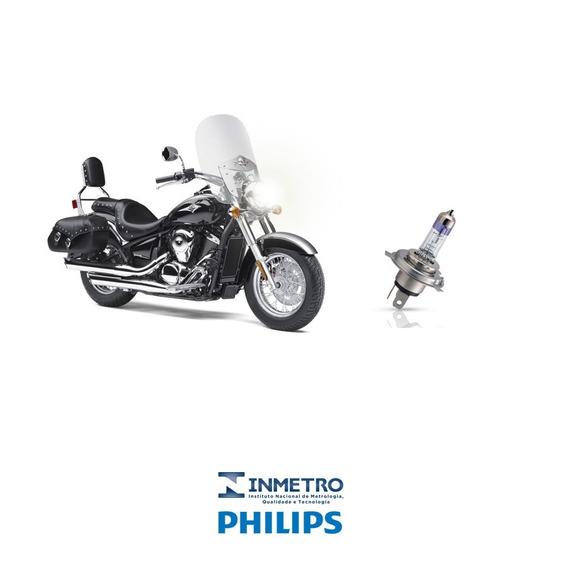 Lampada Farol Moto Kawasaki Vulcan 900 Philips H4 100%+luz