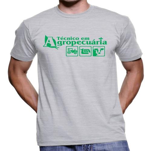 Imagem 1 de 1 de Camiseta Camisa Personalizada Curso Tecnico Agropecuaria