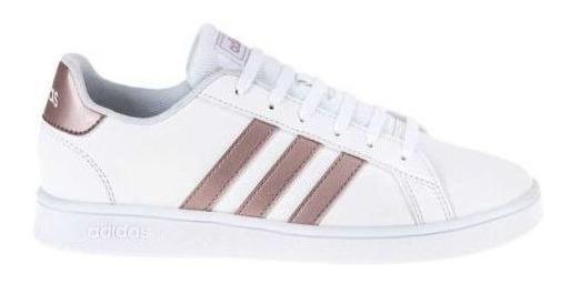 Tenis adidas Dama Blancos Grand Court K F010 Core Footwear