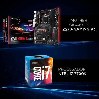Combo Intel I7 7700k+mother Gigabyte Z270 Gaming