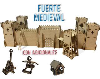 Castillo Fuerte Medieval Fibrofacil Mdf Incluye Adicionales