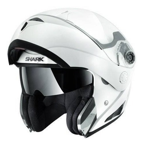 Casco Rebatible Shark Openline Prime Blanco En Fas Motos