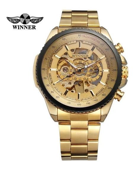 Relógio Esqueleto Winner Masculino Automático