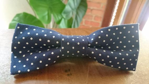 Gravata Borboleta Azul Marinho Poá