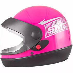Capacete Sport Moto Sm Rosa Tam 56 Tork