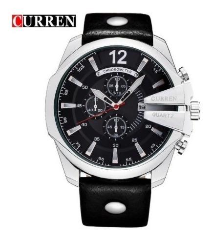 Relógio Masculino Curren 8176 Luxo Casual Social Robusto
