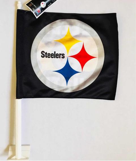 Bandera Para Auto, Steelers De Pittsburgh, Producto Oficial
