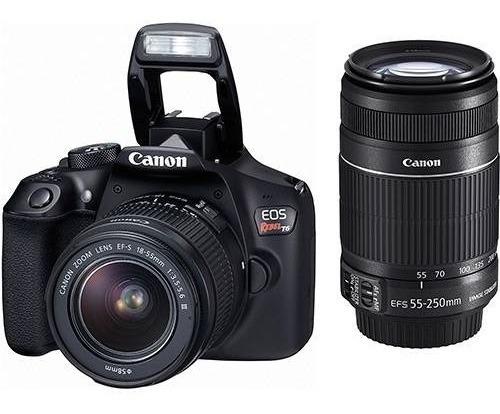 Câmera Digital Canon Eos Rebel T6 Kit Com 2 Lentes E Wi-fi