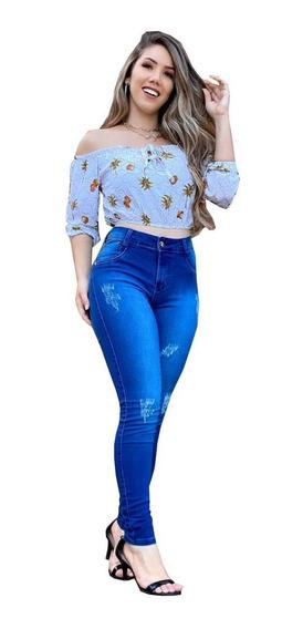 Calças Jeans Feminina Com Lycra Kit 3 Peças De Roupas 36ao44