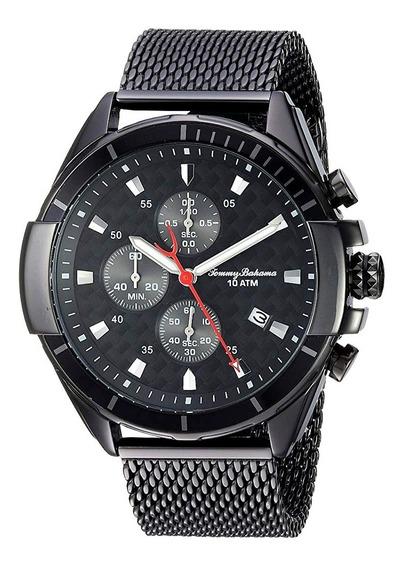 Reloj Tommy Bahama Acero Inoxidable Negro