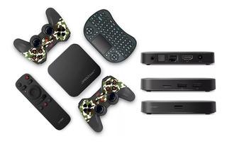 Droid Box Play Convierte Tv En Smart + Videojuegos Retro