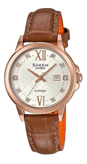 Reloj Casio She-4525pgl-7a Mujer Envio Gratis