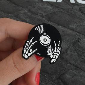 Pingente Colar Vinil Disco Lp Cd Caveria Rock Misfits Metal