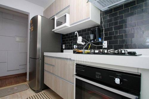 Imagem 1 de 14 de Apartamento De 50m², Composto De 2 Dormitórios, Á Venda Por R$ 280.000,00 - Vila Homero Thon - Santo André/sp - Ap1453