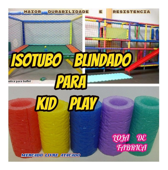 Isotubo Blindado Para Brinquedão Kid Play Kit Com 30 Metros