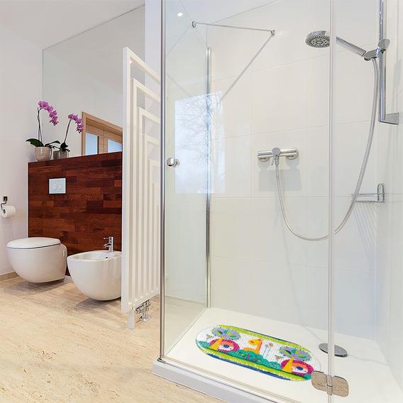 Tapete De Banheiro Box Chuveiro Infantil Criança Banho Bebe