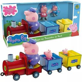 Veículo E Figuras - Peppa Pig - Trenzinho Do Vovô Pig - Dtc