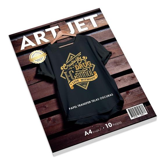 Papel Transfer Telas Oscuras A4 Art-jet® 10hojas