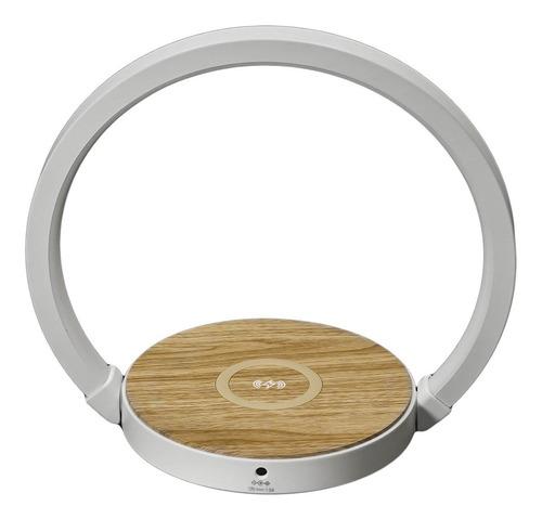 Velador Moderno Con Cargador Inalámbrico Touch Dimmer Nfc