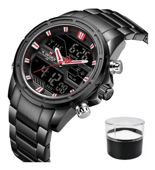 Relógio Naviforce 9138 Original Luxo Com Nota Fiscal Top
