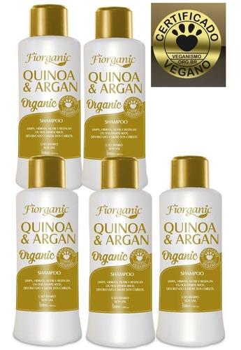 Shampoo Quinoa E Argan 300ml - Vegano - 05 Unidades