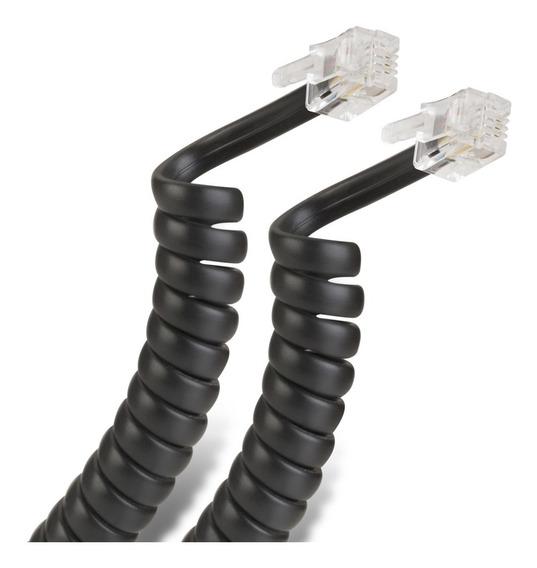 Cable Espiral Plug A Plug Rj9 De 4.5m, Para Auric | 302-015n
