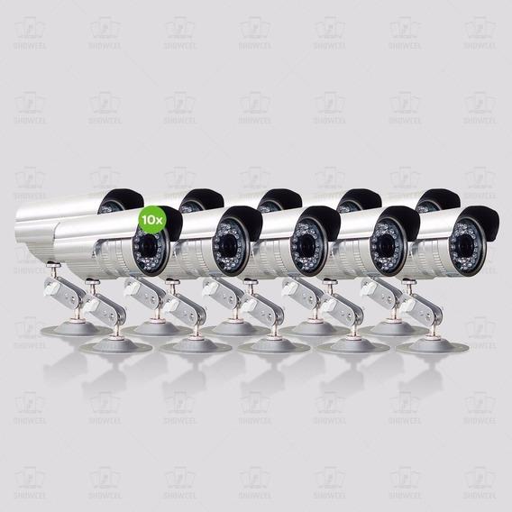 Kit 10 Câmeras Sony Ccd 3,6 Mm 30 Metros 1200linhas+fonte