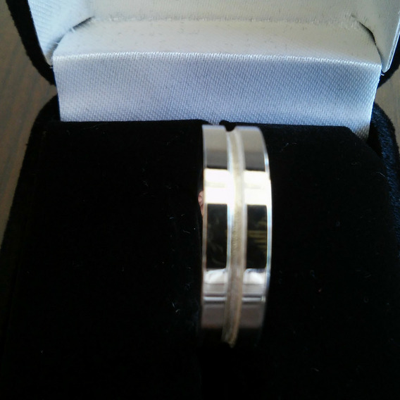 Aliança Reta Prata 925 Polida Com Friso Diamantado Oferta