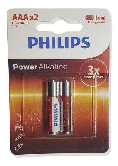 Philips 3aaa Pilha Power Alkaline Cartela Com 2 Unidades