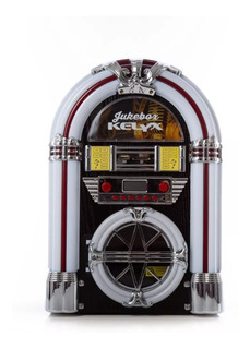 Rockola Kelyx Jukebox Retro Bluetooth Luz Led Radio Am Fm