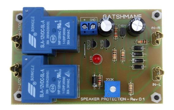 Placa De Proteção Dc Com Delay Para Amplificador Stereo