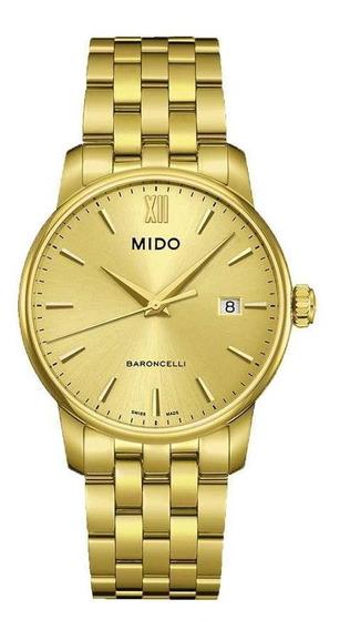 Relógio Mido Baroncelli M013.410.33.021.00 Swiss Made Safira