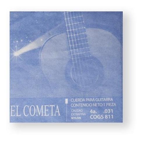 Imagen 1 de 1 de El Cometa Cuerda 811(12) Para Guitarra Clásica, 4a, Cobre