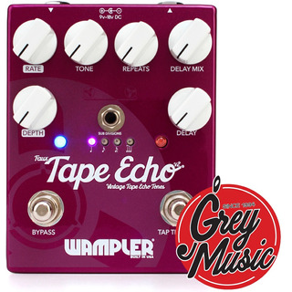 Pedal Wampler Faux Tape Echo V2 Delay - Grey Music -