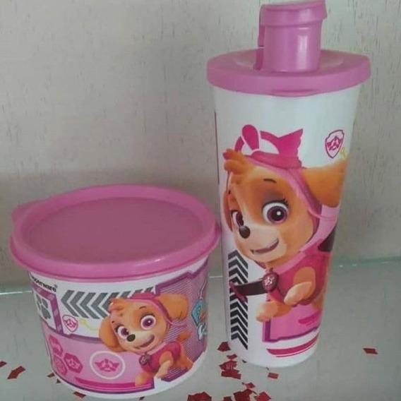 Copo Com Bico E Redondinha Patrulha Canina Rosa Tupperware