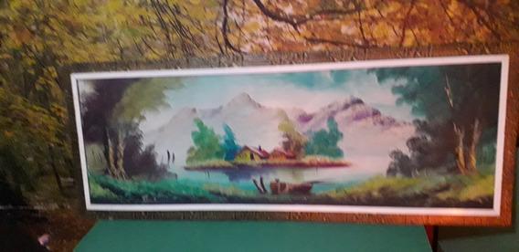 Antiguo Cuadro Pintado Al Oleo Firmado