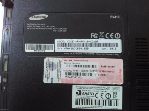Carcaça Base Inferior Samsung Rv415 Rv419 Rv420 Ba75-02993b