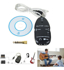 Guitar Link Adaptador Pc Interface Áudio