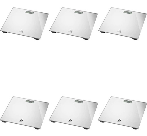 Imagem 1 de 1 de Multilaser Balança P/ Banheiro Digital Prata (kit C/06)
