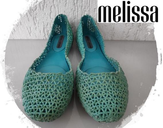 Melissa Campana Papel Verde Glitter Original 39 40 39/40