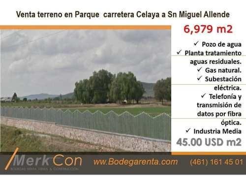 Terreno Venta 6,979 M2 Carret. Celaya A Sn Miguel Allende,gto., Méx.
