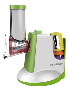 Rallador Electrico Peabody Sm326 Con Accesorios Y 5 Cuchilas