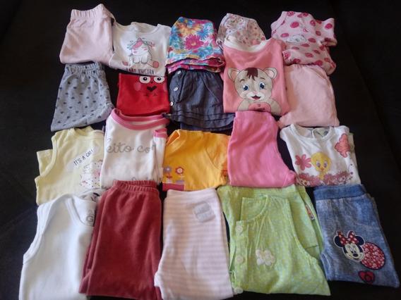 Enxoval 20 Peças Roupas Usadas Bebê Meninas Tam. P, M G