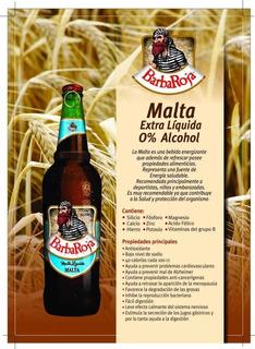 Malta Extra Artesanal Barba Roja 330cc (sin / 0% Alcohol)