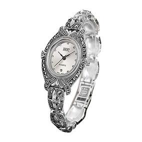 a50d26fe1995 Jade Angel Mujeres Pave Marcasita 925 Plata De Ley Reloj De