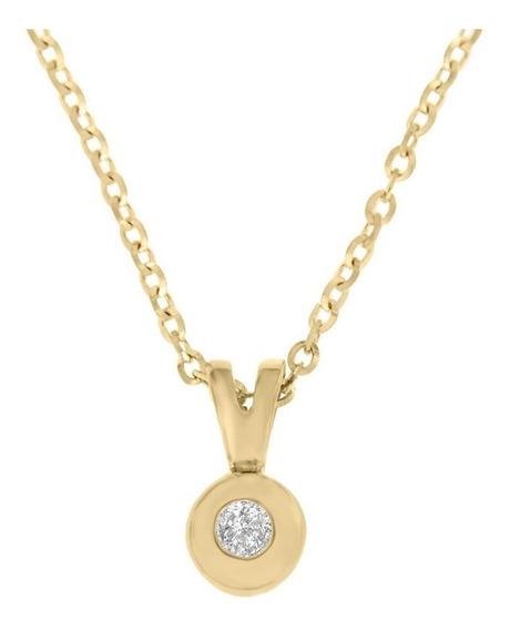 Dije De Oro 14 K Klamore Venus Diamante