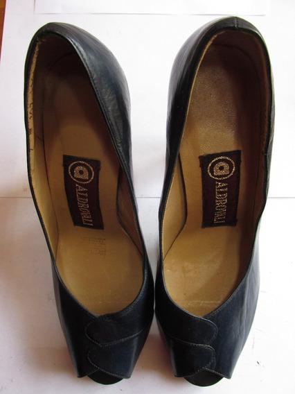 Zapatos De Tacon Marca Aldrovali Talla 22.5 Envio Gratis