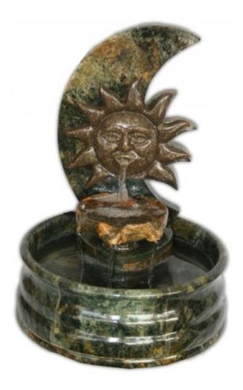 Fonte Decorativa Sol Em Pedra Sabão