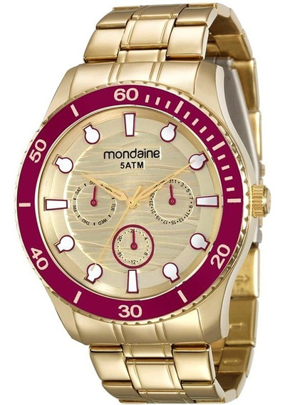 Relógio Mondaine 78694lpmvda3-l3/4 Dourado Original